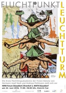 Plakat FluchtpunktLeuchtturm NRW-Forum160622